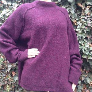 Free people oversized eggplant sweater